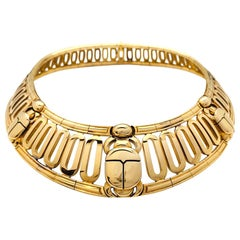 "Cartier Yellow Gold ""Scarab"" Chocker Necklace"