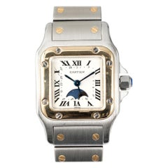 Cartier Yellow Gold Steel Santos Galbee Ladies Wristwatch