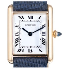 Cartier Yellow Gold Tank Louis Wristwatch