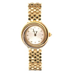 Cartier Yellow, Rose, White Gold and Diamond Trinity Watch