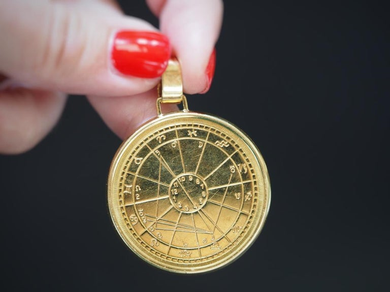 Cartier Zodiac Medallion, 1973, 18 Karat Gold In Good Condition For Sale In Addison, TX