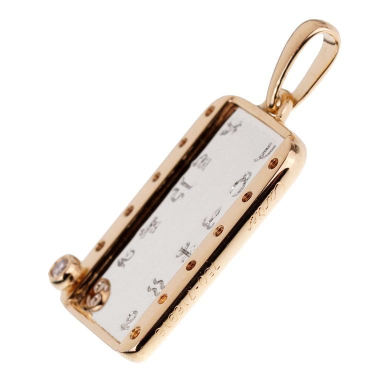 Women's or Men's Cartier Zodiac Vintage Diamond Gold Pendant For Sale