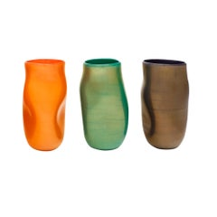 """Cartoccio"" Murano Glass Vases"