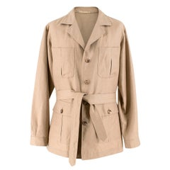 Caruso Beige Extra Fine Camel-hair Jacket XL