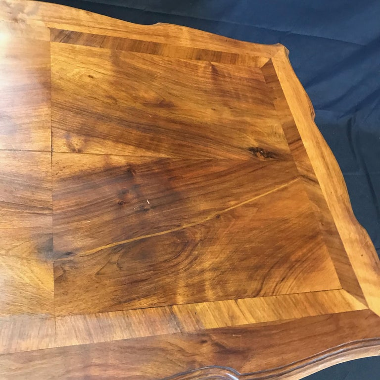 Carved 19th Century Country French Writing Table Desk or Side Table For Sale 3