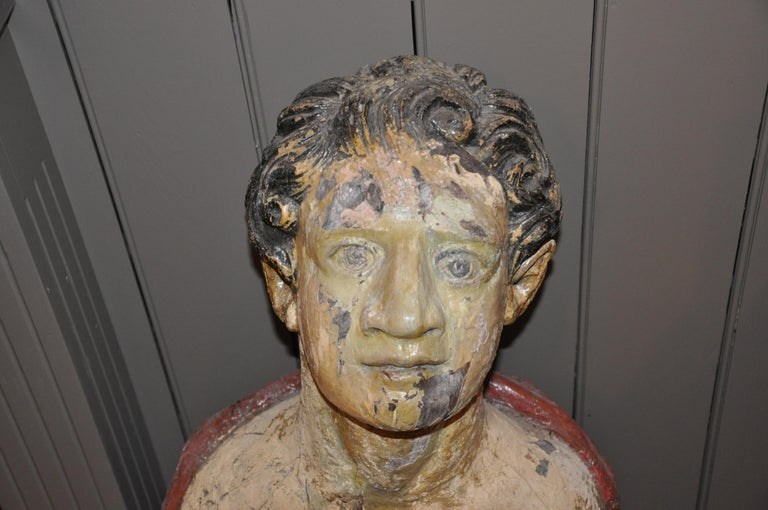 Carved 19th Century English Ship's Figurehead of a Classical Male For Sale 1