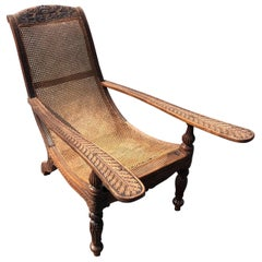 Carved 19th Century West Indies Rosewood Plantation Chair