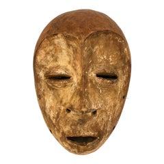 Carved African Hand Carved Gabon Female Mask from Punu Gabon