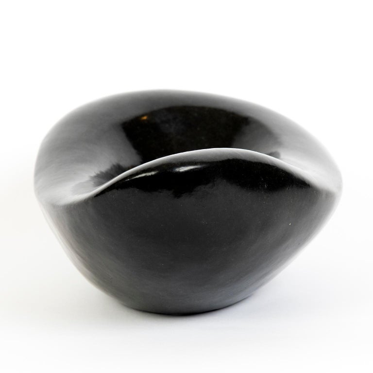Mid-Century Modern Carved African Stone Bowl in the Style of Georges Jouves For Sale