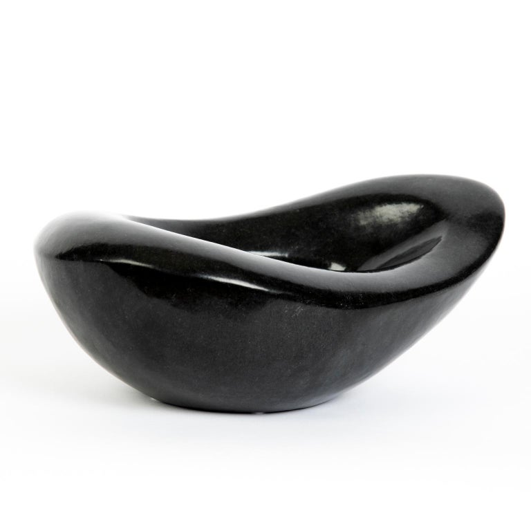 Hand-Carved Carved African Stone Bowl in the Style of Georges Jouves For Sale