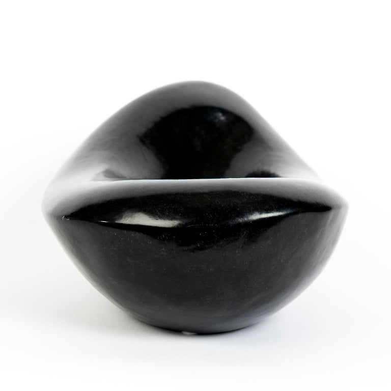 Carved African Stone Bowl in the Style of Georges Jouves In Excellent Condition For Sale In Toronto, ON