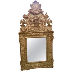 Carved and Gilded Regence Mirror, 1720, French