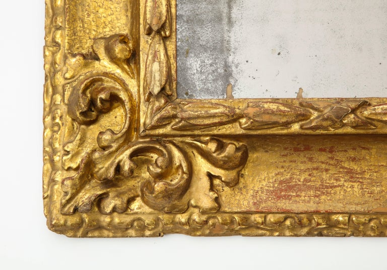 Carved And Gilded Reverse Profile Spanish Baroque Mirror