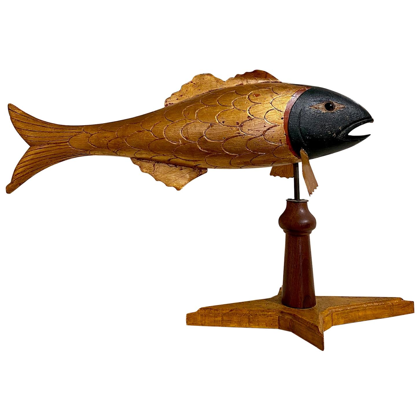 Carved and Gilded Striped Bass Weather Vane