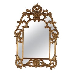 Carved and Gilt Italian Mirror