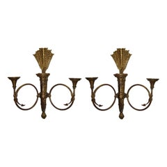 Carved and Gilt Wood Sconces