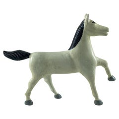 Carved and Painted Folk Art Horse