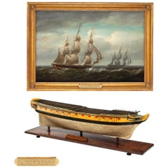 Carved and Painted Model of Hms Emerald, 1811 and 'Hms Emerald & Hms Amethyst