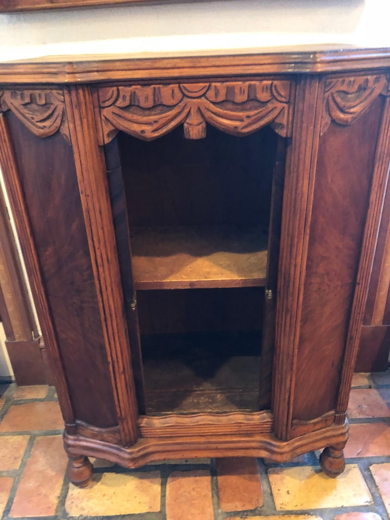 Carved Antique Wooden Cabinet or Bookcase For Sale 9