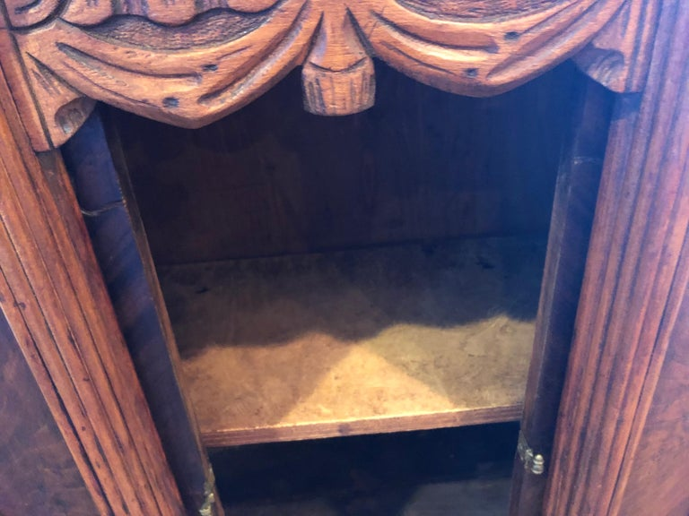 Carved Antique Wooden Cabinet or Bookcase For Sale 12