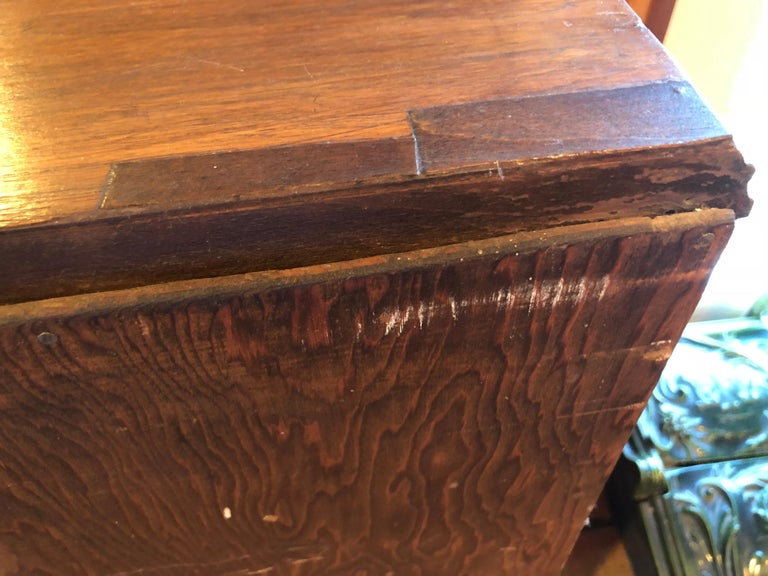 Carved Antique Wooden Cabinet or Bookcase For Sale 14