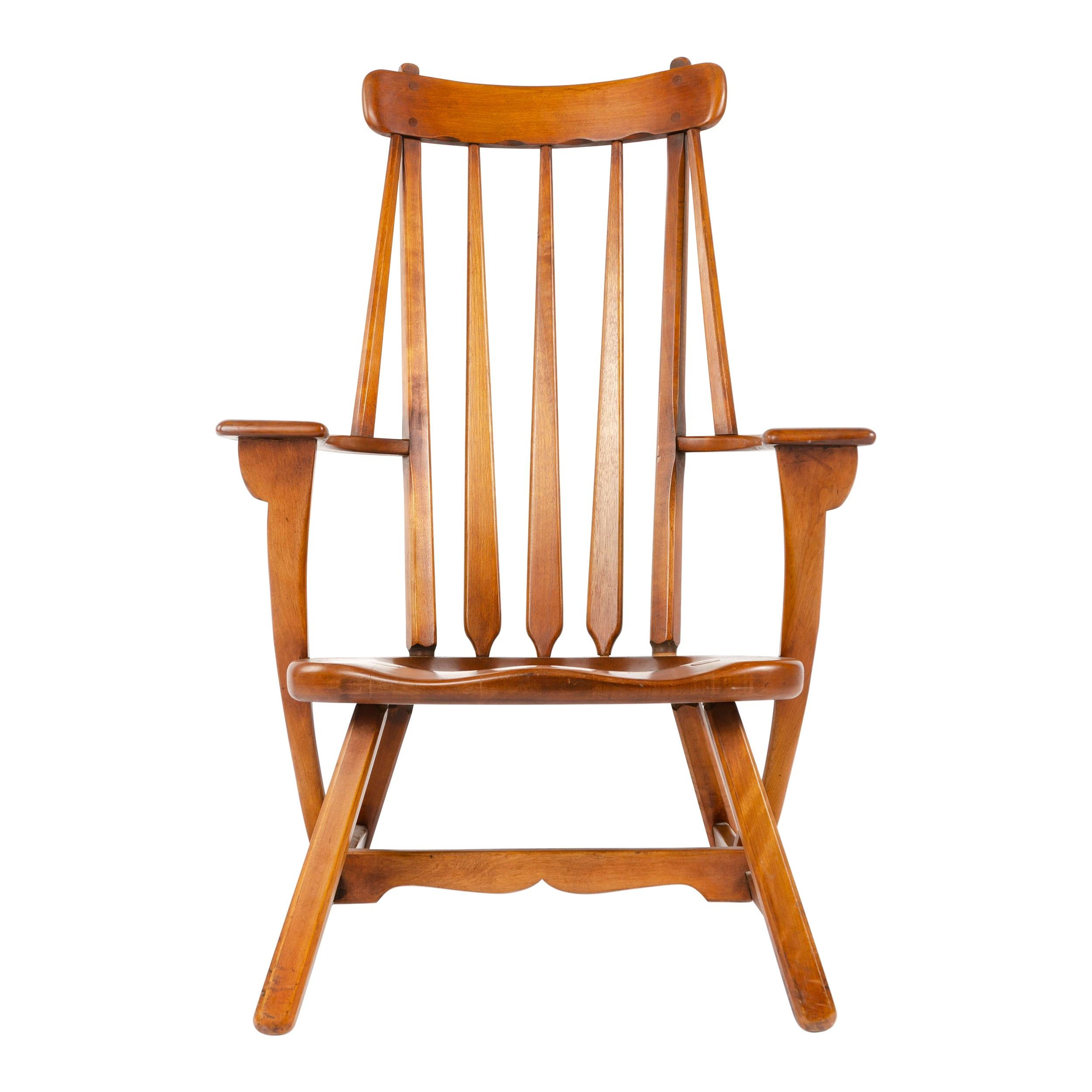 Enjoyable Maple Rocking Chair By Sikes For Sale At 1Stdibs Pabps2019 Chair Design Images Pabps2019Com