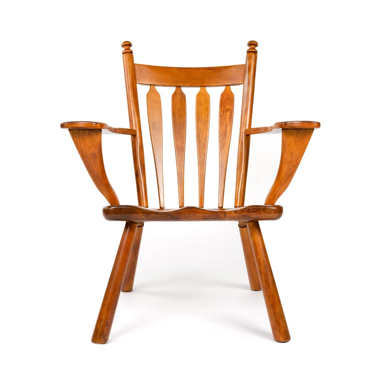 American Carved Armchair For Sale