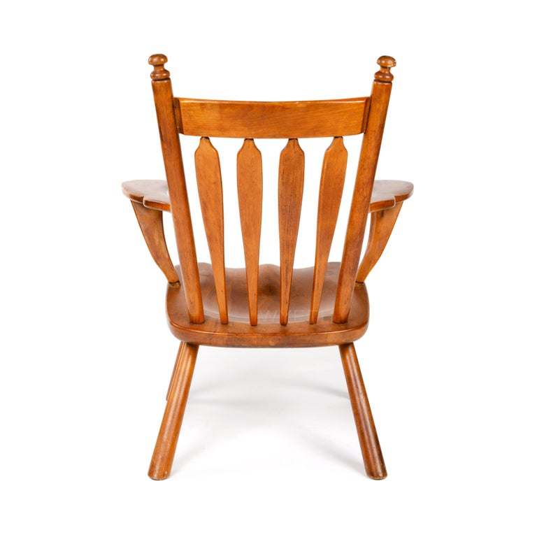Mid-20th Century Carved Armchair For Sale