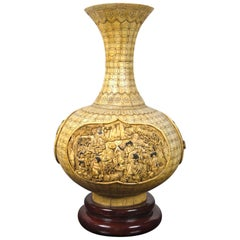 Carved Asian Bone Vase