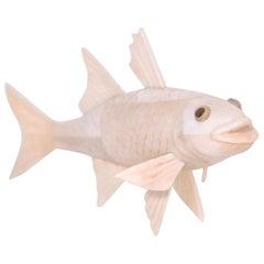 Carved Bone Koi Fish