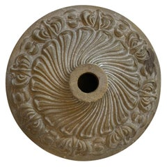 Carved Brass Escutcheon with Florets