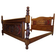 Carved Breton Marriage Bed, circa 1900
