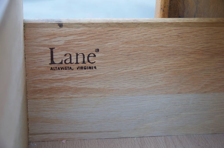 Carved Brutalist Armoire by Lane For Sale 2