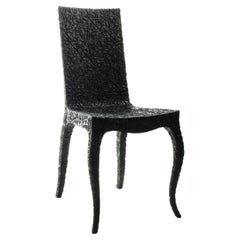 Carved Chair, by Marcel Wanders, Hand-Carved Chair, 2008, Black, Limited