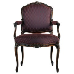 Carved Chair with Armrests Louis XV #1