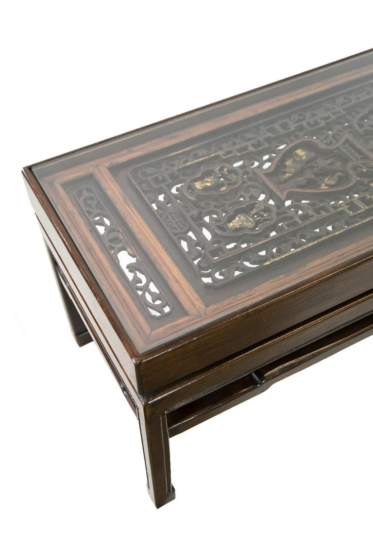 Carved Chinese Coffee Table For Sale 4