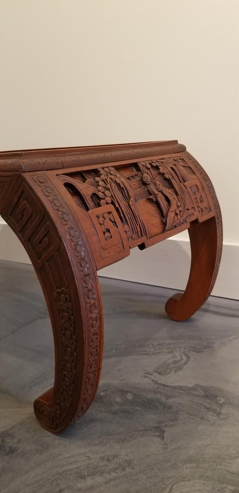 Carved Chinese Coffee Table For Sale at 1stdibs