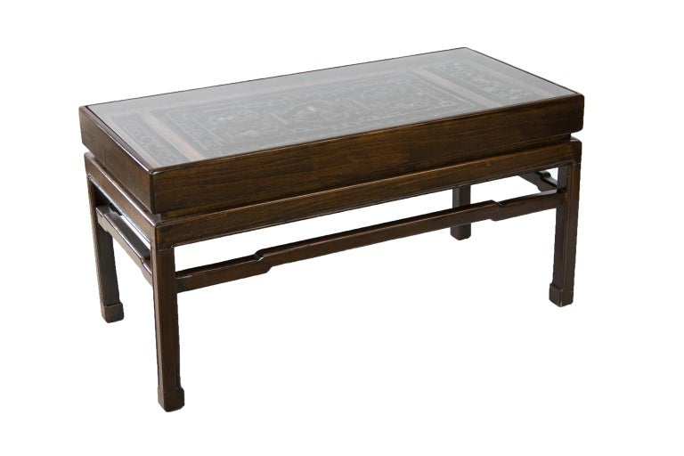 Carved Chinese Coffee Table For Sale 3