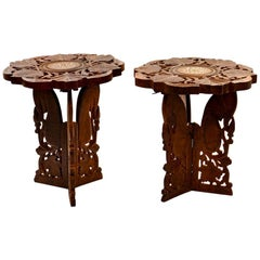 Two Carved Coffee Tables, Oriental Manufacture, Mid-20th Century
