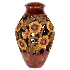 Carved Container/Vase by John Berger