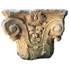 Carved Corinthian Limestone Capital