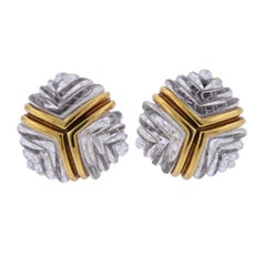Carved Crystal Gold Earrings