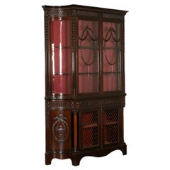 Carved Display Cabinet Mahogany, England, 19th Century