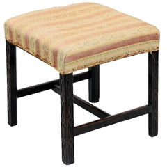 Carved English Chippendale Stool