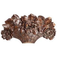 Carved English Flower Basket