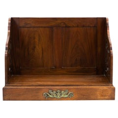 Carved English Mahogany Book Stand