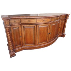 Carved English Style Sideboard Server Buffet