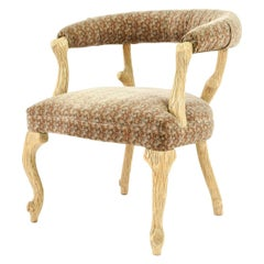 Carved Faux Bois Armchair