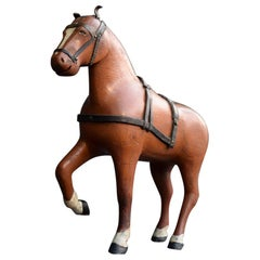 Carved Folk Art German Decorative Figure of a Horse, circa 1880