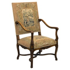Carved French Armchair